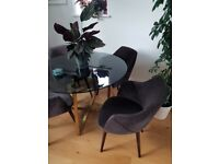 2 x MADE Lule Dining Chairs, Otter Grey, brand new