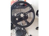 Logitech g27 wheel, with adapter and 350mm Rim