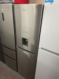 STAINLESS STEEL BEKO DRINKS FRIDGE FREEZER