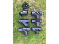 Various black 4inch waste connectors