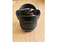 Samyang fisheye 8mm f 3.5 for canon lens