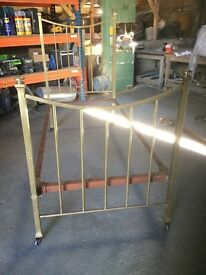 Antique Single brass bed frame