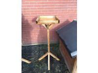 flattop handmade wooden bird feeder