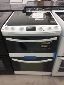 BRAND NEW ZANUSSI WHITE 60CM ELECTRIC COOKER WITH OVEN & GRILL