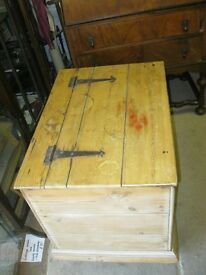 ANTIQUE SOLID PINE TRUNK - CHEST. VERSATILE IN USAGE & LOCATION. IDEAL COFFEE TABLE. VIEWING/DELIVER