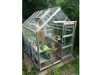 Greenhouse Aluminium Frame Glass