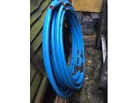 Blue piping for external water works