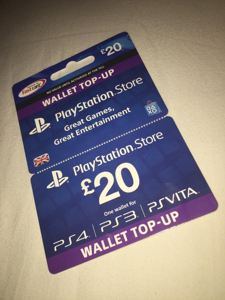 PlayStation PSN Card 20 GBP Wallet Top Up | PSN Download Code - UK account  | in Basford, Nottinghamshire | Gumtree