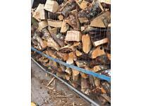 Seasoned planked timber elm oak