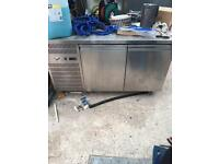 Commercial fridge with worktop.
