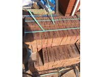 2 bands of bricks left over from a job in downend