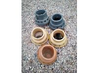5 x elephants feet chimney vents sold as used and as seen