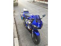 Yamaha r6 blue 2002