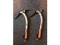 Petzl Quark Ice Axes - Pair with brand new picks