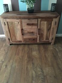 wooden solid sideboard.