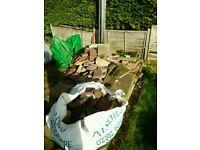 Corhampton - Free paving slabs broken and rubble