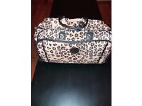 Leopard Print Luggage Bag WITH WHEELS