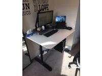 Desk BEKANT 120 x 80 cm Ikea White and black