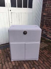 Retro style grey cabinet perfect for living room, bathroom or bedroom