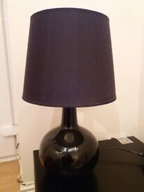 Two large black table lamps - around 47cm tall