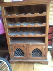 Lovely solid wood, wine store.