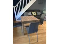 Dinning table and chairs , wall unit