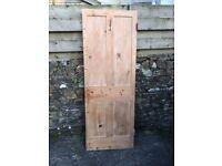 Internal pine Victorian door