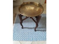 antique indian brass top table
