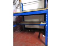 USED PACKING TABLE - WITH SHELF AND RACK - ONLY £55!!!