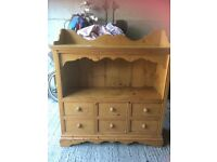 Bespoke Solid Pine Unit with drawers