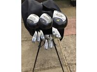 Full Set of Golf Clubs with Bag and Trolley