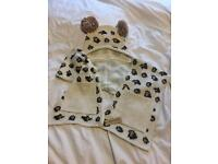 Lovely river island bear hat/scarf set new rrp £32