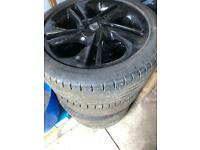Four Vauxhall Corsa wheels