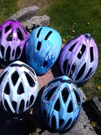 Selection of kids bike helmets £5 each various sizes excellent condition