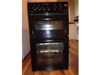 BEKO Black Gas Double Oven
