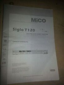 MICO SIGLO T120 DIGITAL DVD HOME THEATRE