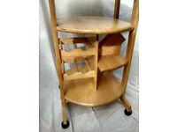 Circular Wooden Kitchen Island/Trolley
