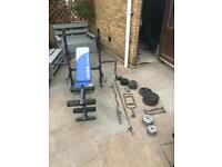York Bench and weights set