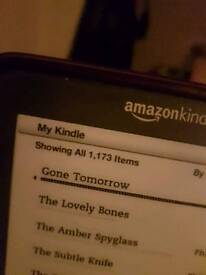 Kindle with 1173 books