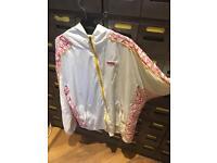 White puma archive retro style shell suit tracksuit jacket uk xl