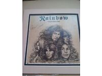 Signed rainbow album long live rock and roll by cozy Powell. Slight damage on packaging.