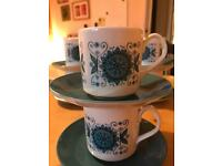 Engadine Coffee Cup and Saucer x6