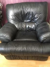 Leather321 reclining suite