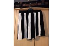 Black/white striped short skirt S/34