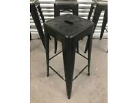 Two metal black stolix style bar stools available. Retro Mid Century