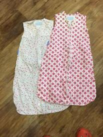 Baby Girls Gro bag summer sleeping bags age 0-6 Months 1.5tog