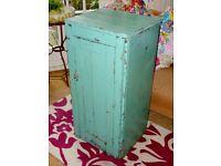 Original Paint Antique French Provincial Farmhouse Cupboard Cabinet Storage