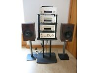Denon Hi-Fi Stereo Systemwith speakers and Alphason stands £100