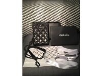 AUTHENTIC Chanel lambs leather bag / phone holder.