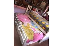 Wooden single bed with Pull-out bed underneath